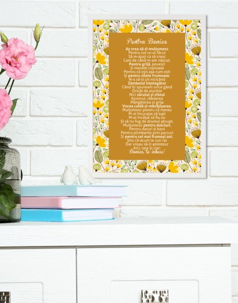 Cadou pentru bunica - Tablou personalizat cu versuri - Pentru bunica 2