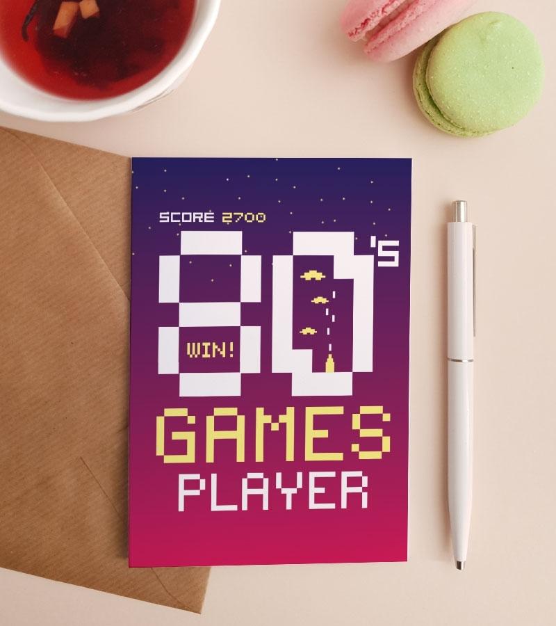 Felicitare---80's-Gamer 1