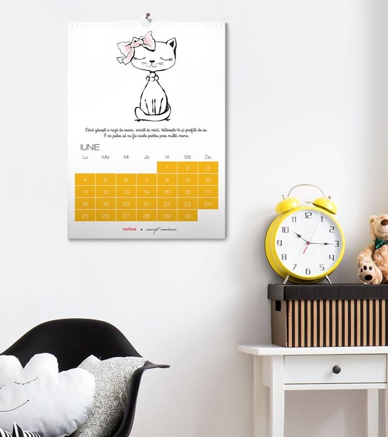 Cadou cu pisici - Calendar de perete 2021 - Intelepciuni pisicesti 1
