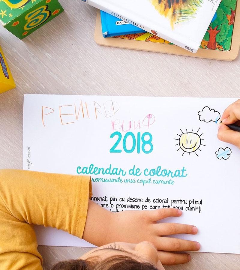 calendar de perete 2021 de colorat pentru copii 1