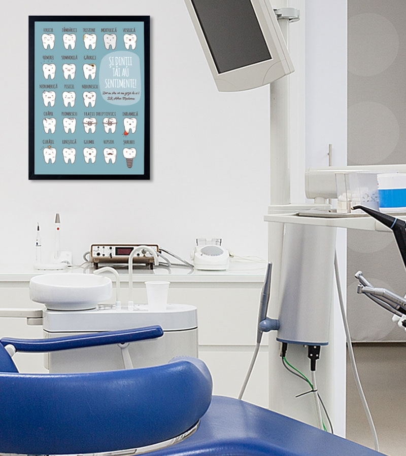 Decor cabinet stomatologic - Tablou personalizat - Mouth Matters 1