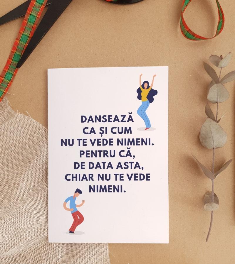 Felicitare personalizata cu mesaj amuzant - Dance_catbox 1