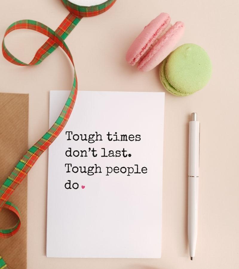 Felicitare personalizata cu mesaj optimist - Tough_catbox 1