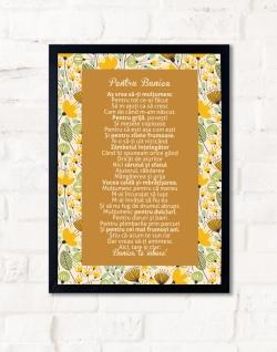 Cadou pentru bunica - Tablou personalizat cu versuri - Pentru bunica 3