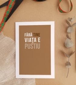 Cadou pentru o persoana speciala - Felicitare - Fara tine_cadouri catbox 2