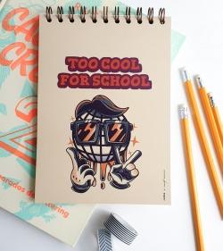 caiet de scoala A5 cu spirala 60 coli dictando pentru elevi de liceu - too cool for school 1