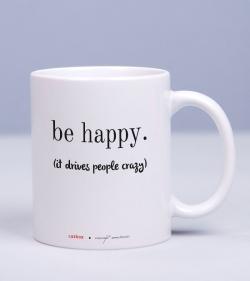 Cana cadou pentru prieteni, cu mesaj optimist - Be Happy_catbox 1