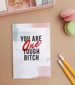 Felicitare personalizata cu mesaj amuzant - Tough Lady_catbox 1