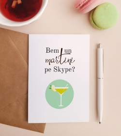 Felicitare personalizata cu mesaj de dor - Virtual day drinking_catbox 1