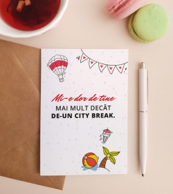 Felicitare personalizata cu mesaj de dragoste - Like a City Break_catbox 1