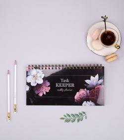 Planner pentru task-uri - Task Keeper Fantasy Roses_planner saptamanal_organizare_agenda programari_catbox_1