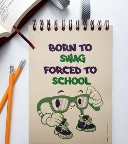 caiet de scoala A5 cu spirala 60 coli dictando pentru elevi de liceu - born to swag 1