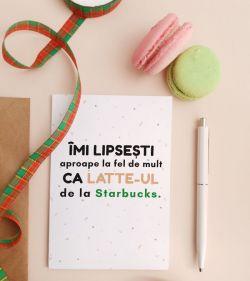 Felicitare personalizata cu mesaj de dragoste - Miss You Like Coffee_catbox 1