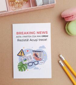 Felicitare personalizata cu mesaj optimist - Breaking News_catbox 1
