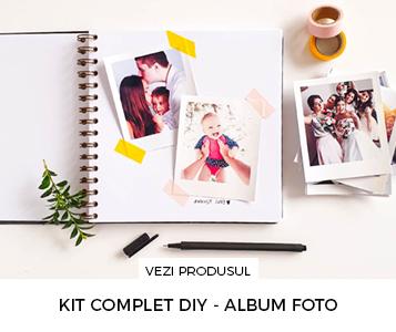 Cadouri pentru prieteni - Pachet cadou cu album foto DIY_poze personalizate incluse