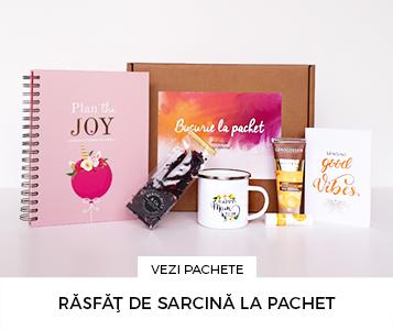 Cadouri pentru femei insarcinate -Pachet cadou cu agenda de sarcina - Plan the Joy